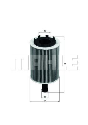 Filter olja Mahle OX 188D