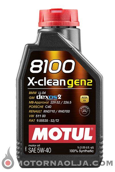 Motul 8100 X-Clean Gen2 5W-40