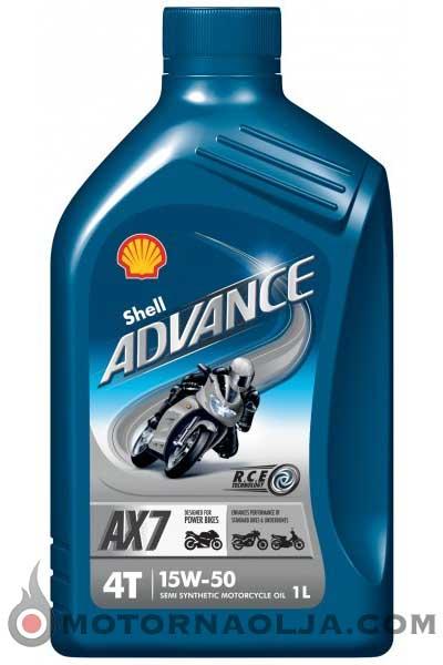 Shell Advance AX7 4T 15W-50